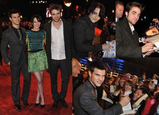 Photos of Robert Pattinson, Kristen Stewart, Taylor Lautner at New Moon UK Fan Event
