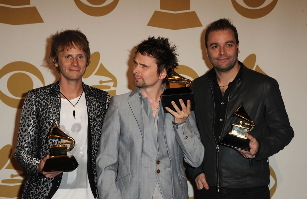 Usher, Justin, John, and Matt Celebrate in the Grammys Press Room