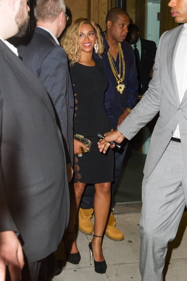 Beyonce Knowles wore her hair wavy for a date night with Jay Z in NYC.