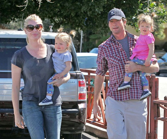 Slide Photo of Rebecca Romijn and Jerry O'Connell with Dolly and Charlie