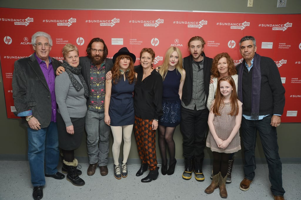 Dakota Fanning and Boyd Holbrook posed with the cast and crew at the Very Good Girls premiere in Park City.
