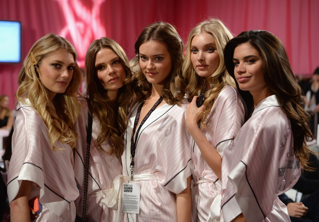 Caroline Brasch, Monika Jagaciak, Martha Hunt, Sara Sampaio, and Elsa Hosk gathered for a beautiful group photo.