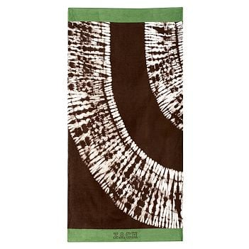 PBteen Tie-Dye Coffee Beach Towel