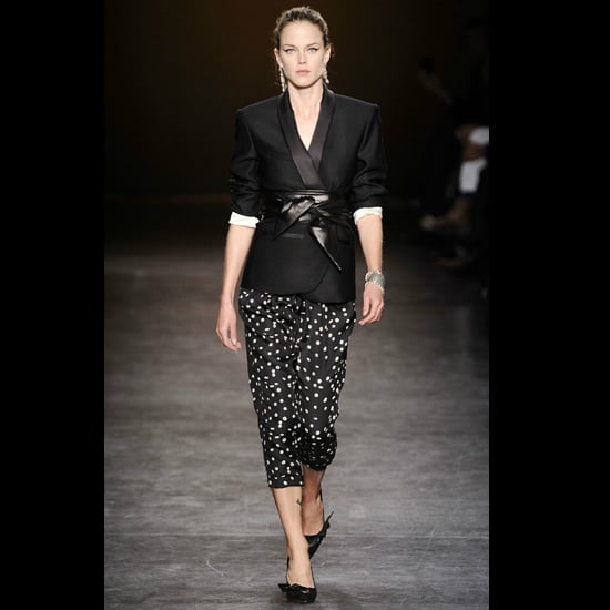 """A year later, for Fall 2010, Isabel Marant made waves with a '50s-inspired cropped version. It's a style that's still going strong; Katie Holmes was spotted in a similar Marant pair earlier this year.  Shop similar styles: <iframe width=""""286"""" scrolling=""""no"""" height=""""244"""" frameborder=""""0"""" src=""""http://widget.shopstyle.com/widget?pid=uid5121-1693761-41&look=3500524&width=3&height=3&layouttype=0&border=0&footer=0""""></iframe>"""