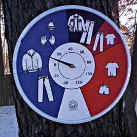 Thermometer That Shows What Clothes to Wear