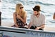 Sienna Miller and Tom Sturridge got on a small boat with baby Marlowe.