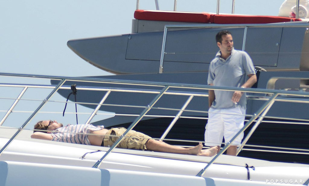 Leonardo DiCaprio soaked up the rays on a yacht in Ibiza, Spain.