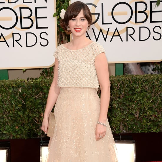 Zooey Deschanel Dress on Golden Globes 2014 Red Carpet