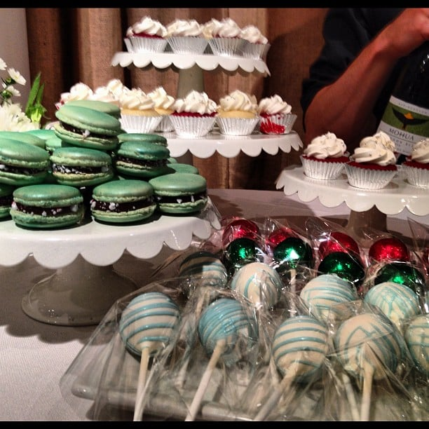 Holiday cheer came early at Toms! We were partial to the cake pops.