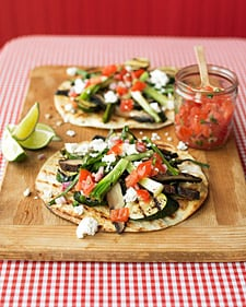 Sunday BBQ: Grilled Vegetable Tostadas
