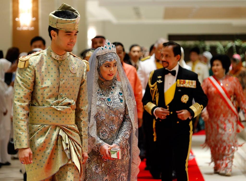 Princess Hajah Hafiza Sururul Bolkiah and Pengiran Haji Muhammad Ruzaini  The Bride: Princess Hajah Hafiza Sururul Bolkiah, the fifth daughter of Brunei's sultan. The Groom: Pengiran Haji Muhammad Ruzaini. When: The civil ceremony was on Sept. 20, 2012, followed by a lavish celebration on Sept. 23, 2012. Where: Nurul Iman Palace in Brunei's capital Bandar Seri Begawan.