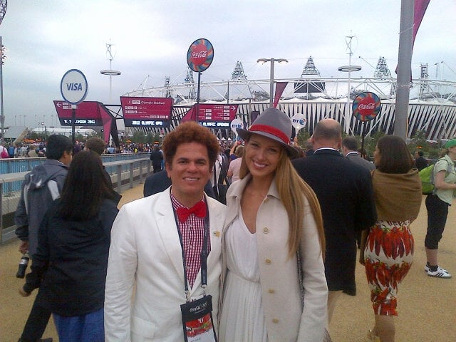 Petra Nemcova shared her excitement about the games by posting a photo on Twitter. Source: Twitter User pnemcova