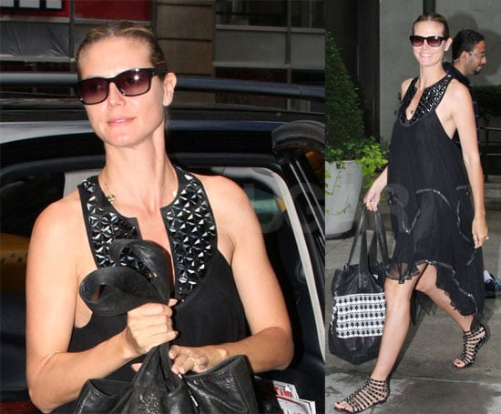 Heidi Klum Gets Ready For Project Runway in New York City