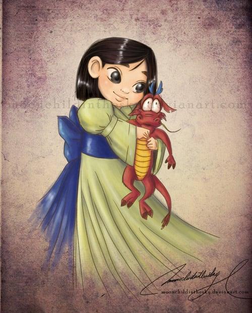 Child Princess Mulan