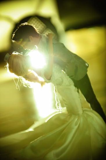 Ken dips his new bride. Photo by BdG Photography via Rock n Roll Bride