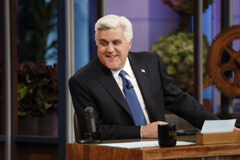Jay Leno sat at his desk one last time.
