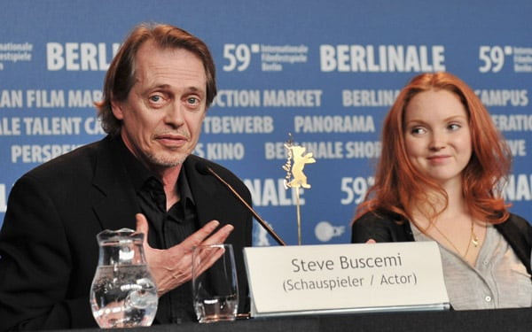 <i>Rage</i> press conference at Berlin Film Festival with co-star Steve Buscemi.