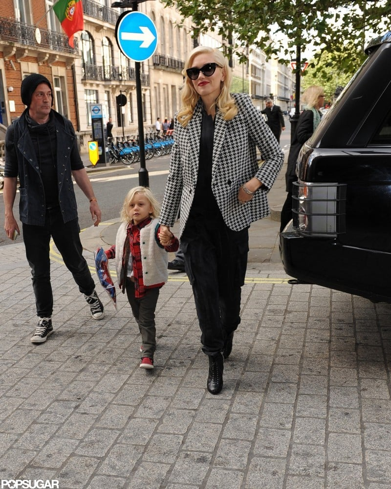 Gwen Stefani and Zuma Rossdale walked together in London.