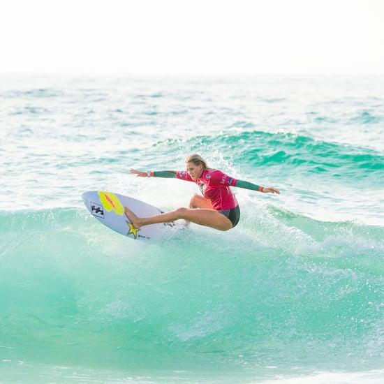 Pregnant Woman Surfs