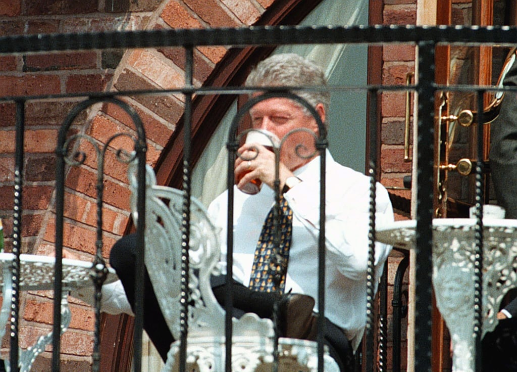 President Clinton enjoyed a pint of beer during his walkabout at the Malthouse brewery while attending a 1998 G8 conference in the UK.