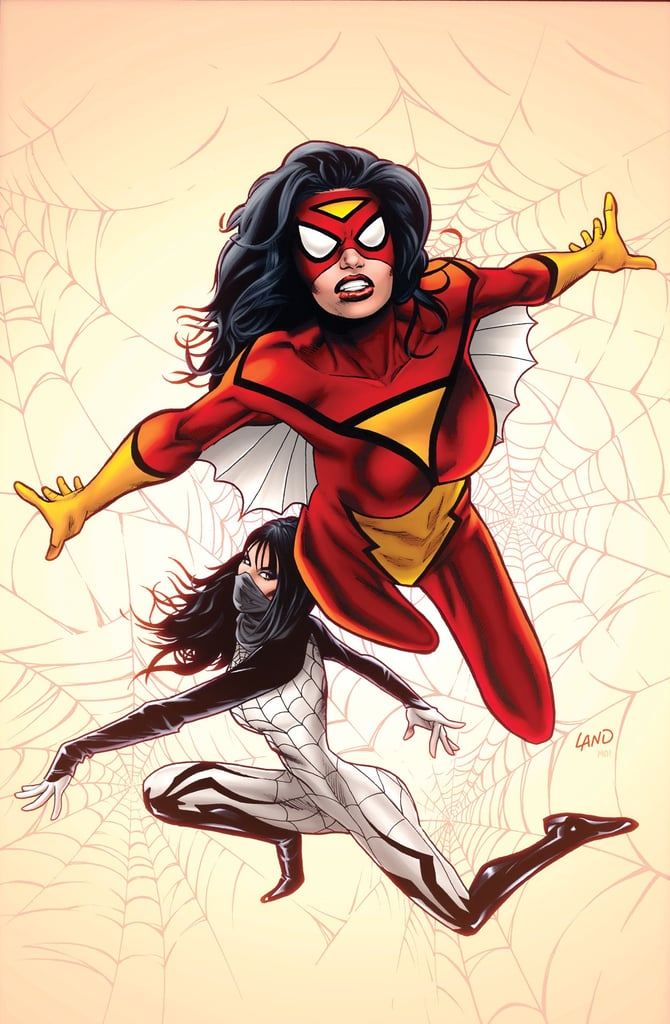You should know there is an alternative cover for the upcoming Spider-Woman comic, this one designed by series artist Greg Land.  Source: Marvel