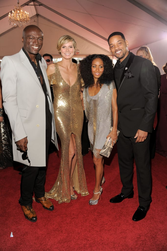 Seal, Heidi Klum, Jada and Will Smith