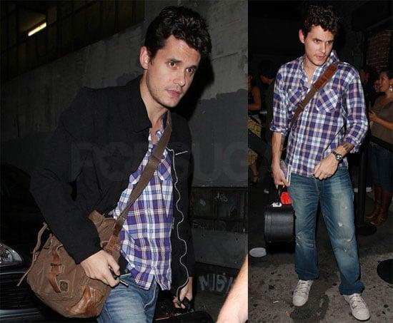 Photo of John Mayer Leaving LA's Hotel Café