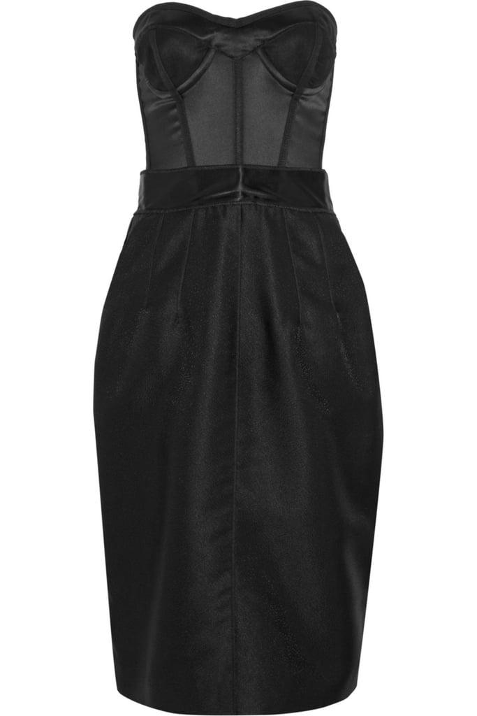 Dolce & Gabbana Stretch-Satin and Jacquard Dress