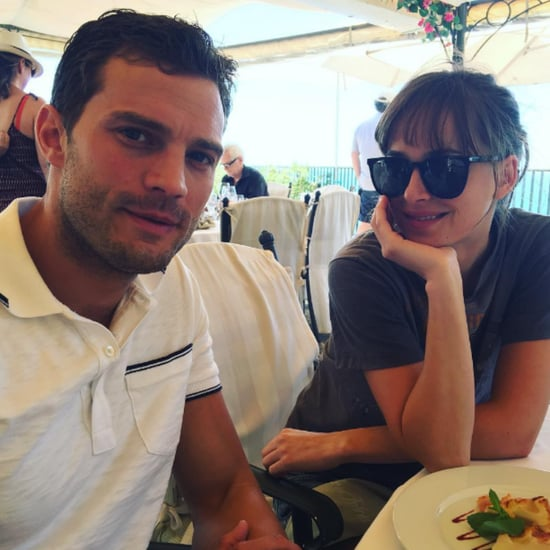 Jamie Dornan and Dakota Johnson Fifty Shades Instagrams