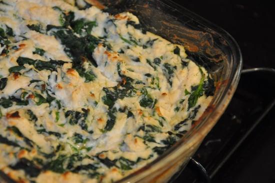Warm Spinach-White Bean Dip with Crudites