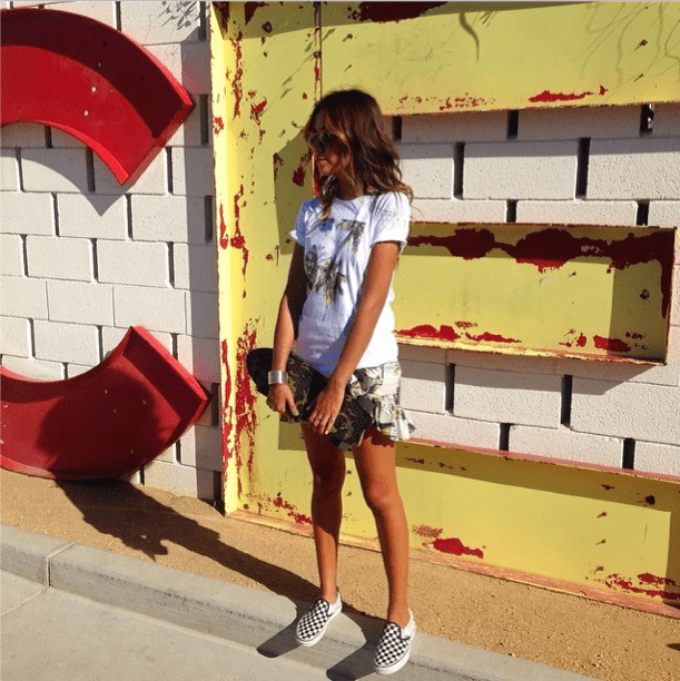 Don't overthink it — an eye-grabbing print will do the work for you and looks even better mixed and matched.   Source: Instagram user sincerelyjules