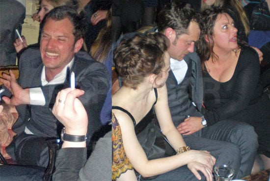 Photos of Jude Law Looking Drunk with Some Ladies at a Bar in NYC