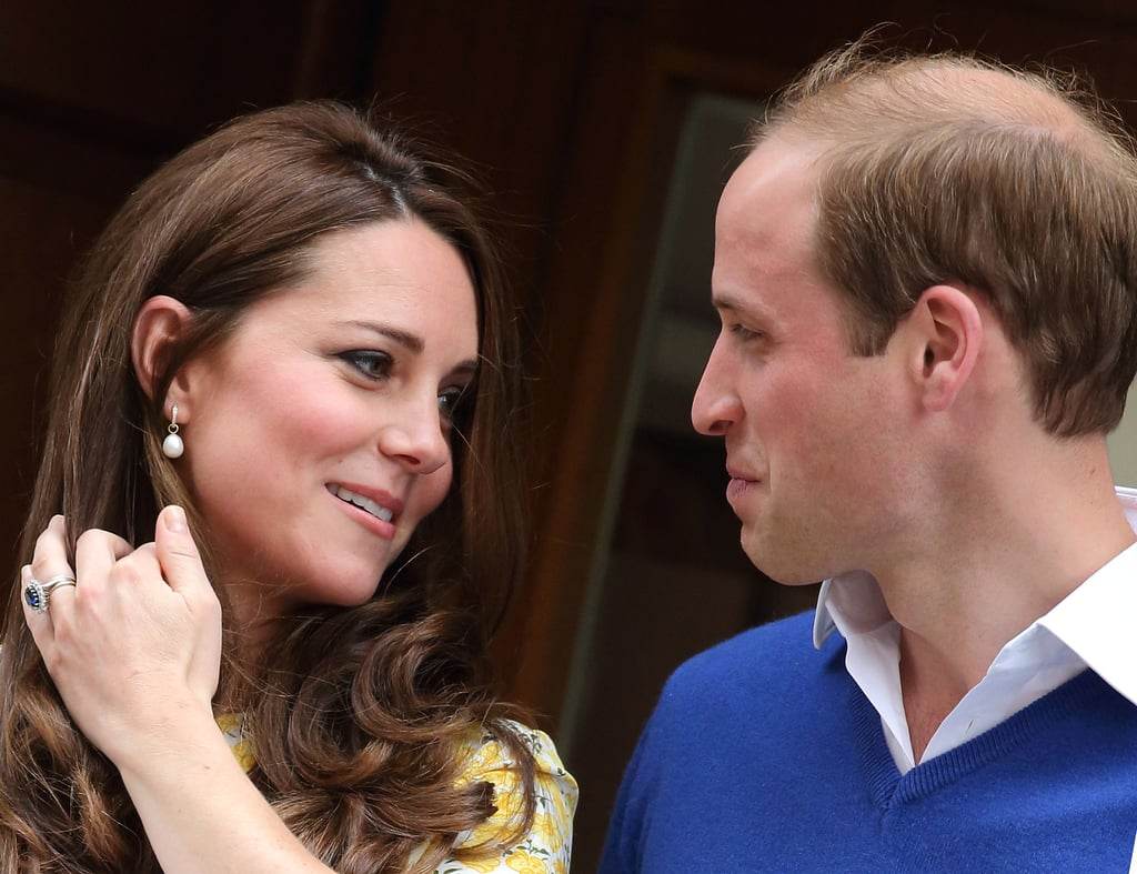 Just after giving birth to Charlotte in May 2015, Kate shared this loving look with Will.