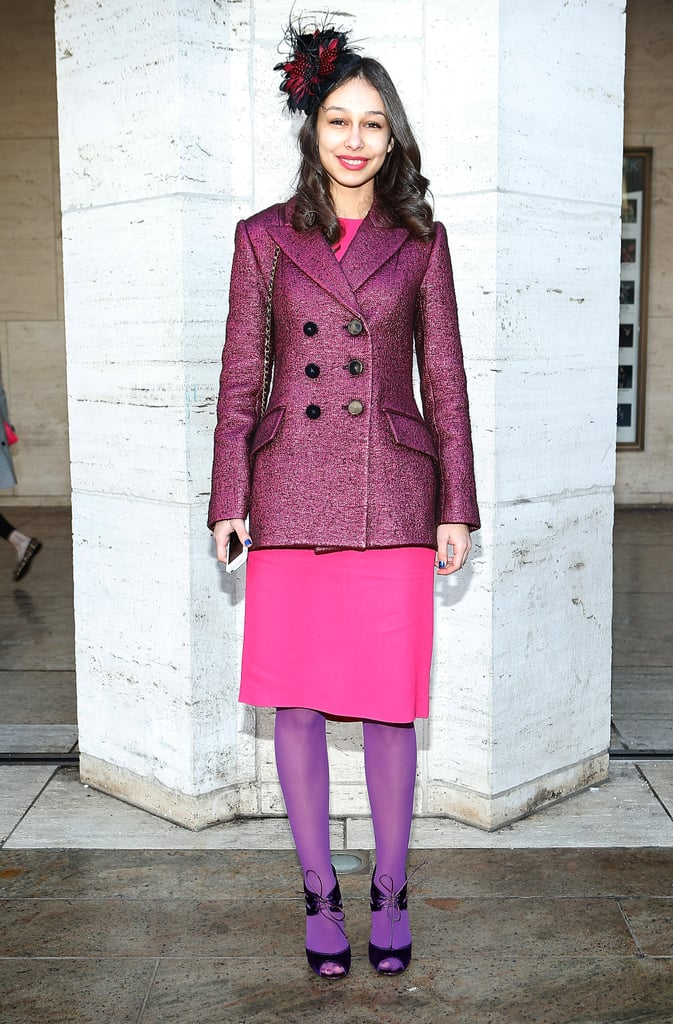 This show-goer pulled together pretty hues and ladylike silhouettes.