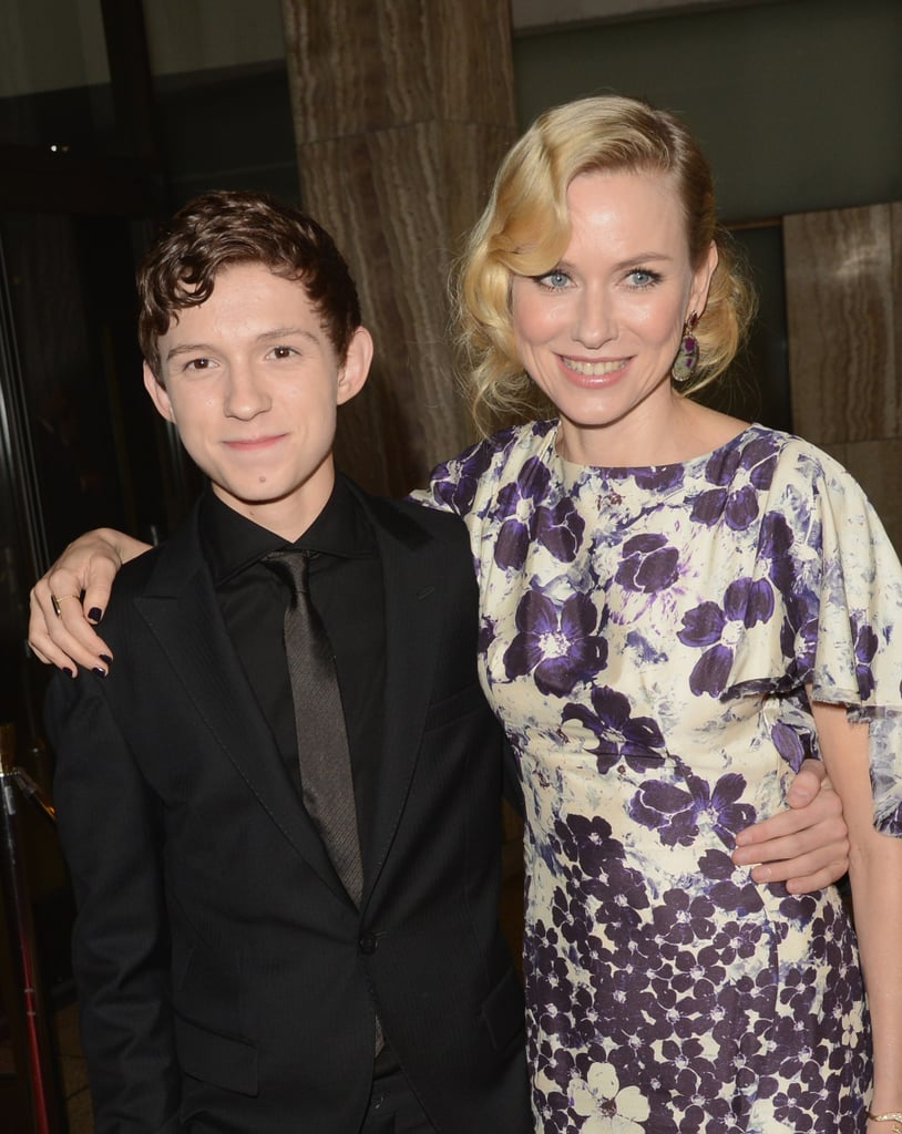 Naomi Watts posed with Tom Holland.