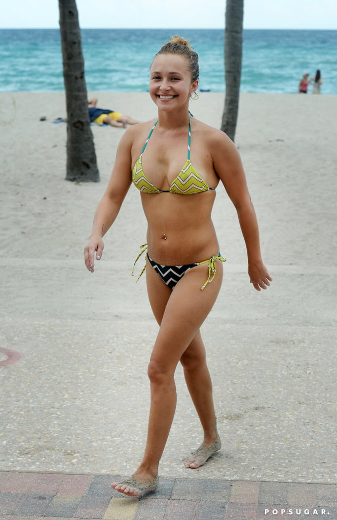 During a trip to Florida, Hayden Panettiere spent some time at the beach.