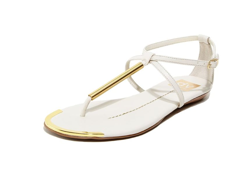 Keep it simple and refined, even if your wedding happens to be beachside. We love the gold T-bar detail of these breezy white flat sandals — a pretty add-on that won't go unnoticed. DV by Dolce Vita Archer Flat Sandals ($69)