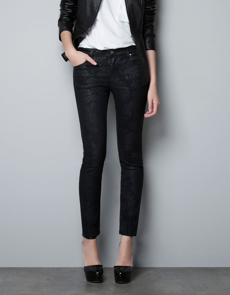 We don't have to tell you how much we love these Zara Power Black Print Jeans ($80) — the expert tailoring and edgy-cool print speaks for itself.