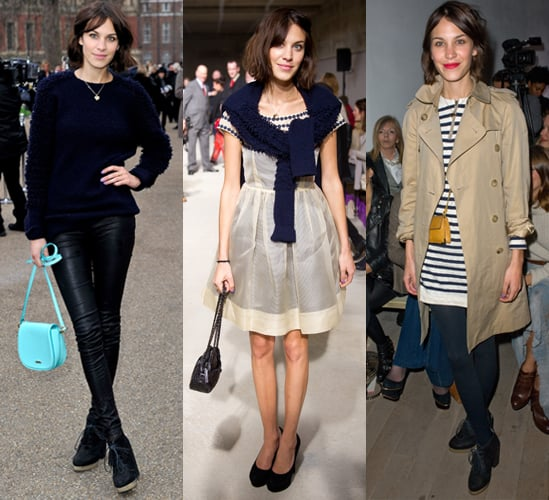 Alexa Chung at London Fashion Week Autumn Winter 2011