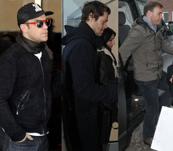 Pictures of Take That and Ayda Field in Berlin, Germany