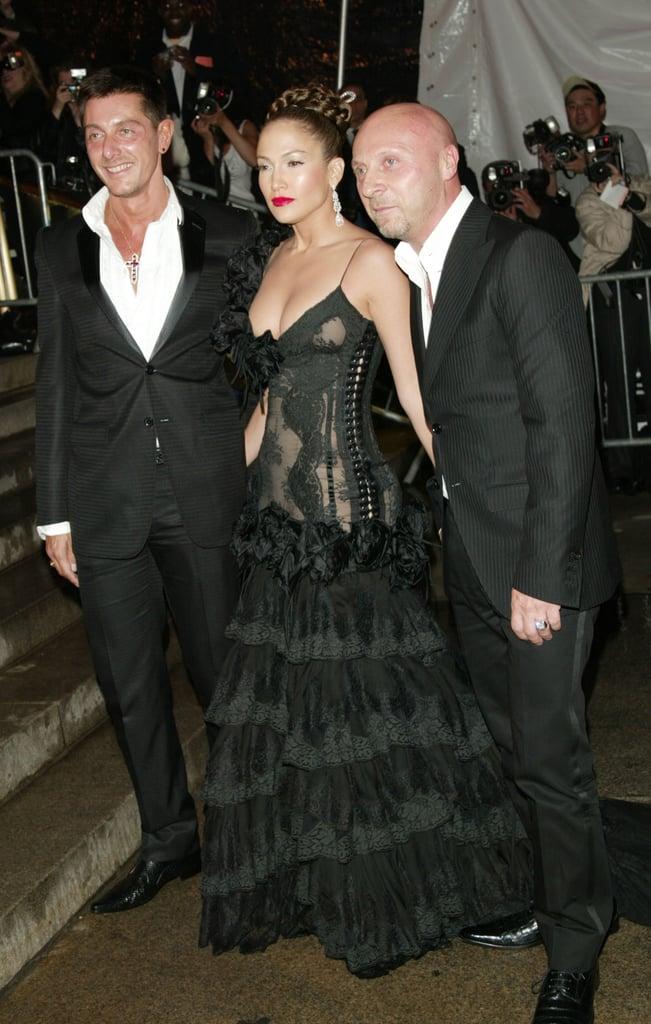 Stefano Gabbana, Jennifer Lopez, and Domenico Dolce — 2004