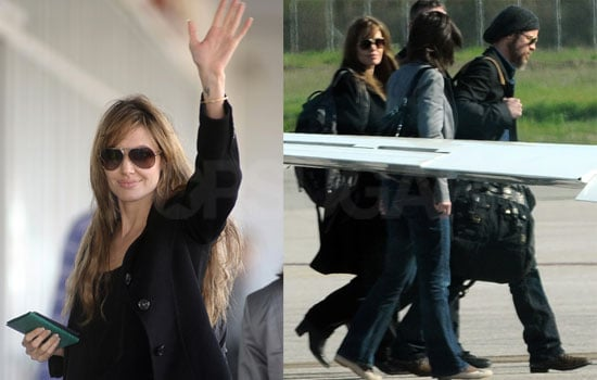 Photos of Angelina Jolie and Brad Pitt in Montenegro 2010-04-06 16:30:00