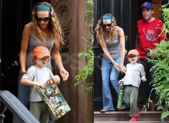 Photos of Sarah Jessica Parker, Matthew Broderick, James Wilkie Broderick in NYC