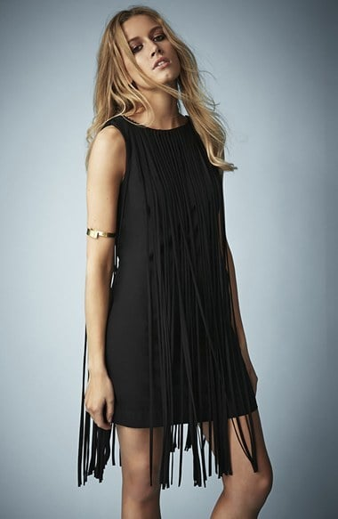 Topshop Fringed Dress