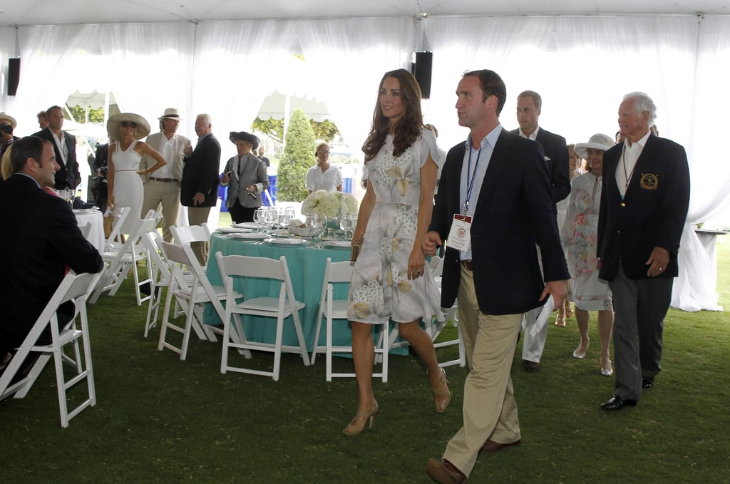 Prince William and Kate Middleton at polo event in Santa Barbara.