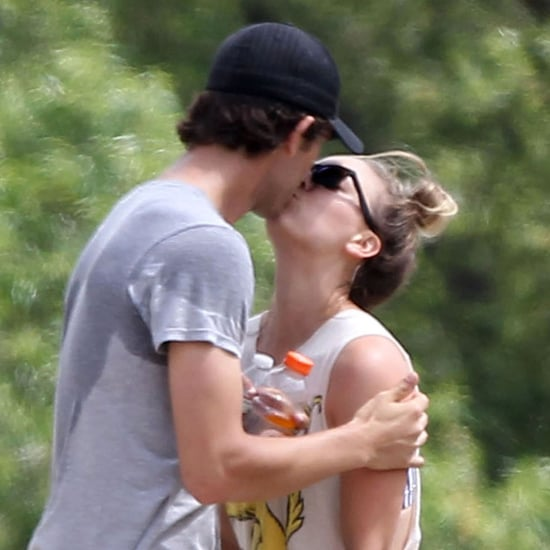 Kaley Cuoco and Ryan Sweeting Kiss During Workout | Pictures