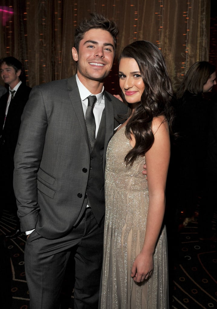 Zac Efron and Lea Michele celebrated at the New Year's Eve afterparty.