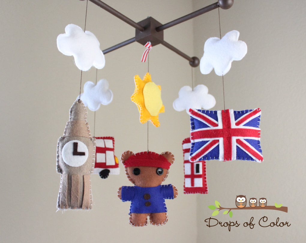 Drops of Color's Dream About London mobile ($90) is the perfect nursery accessory for little Anglophiles.