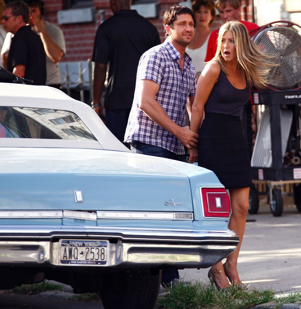 Photos of Jennifer Aniston and Gerard Butler Filming The Bounty