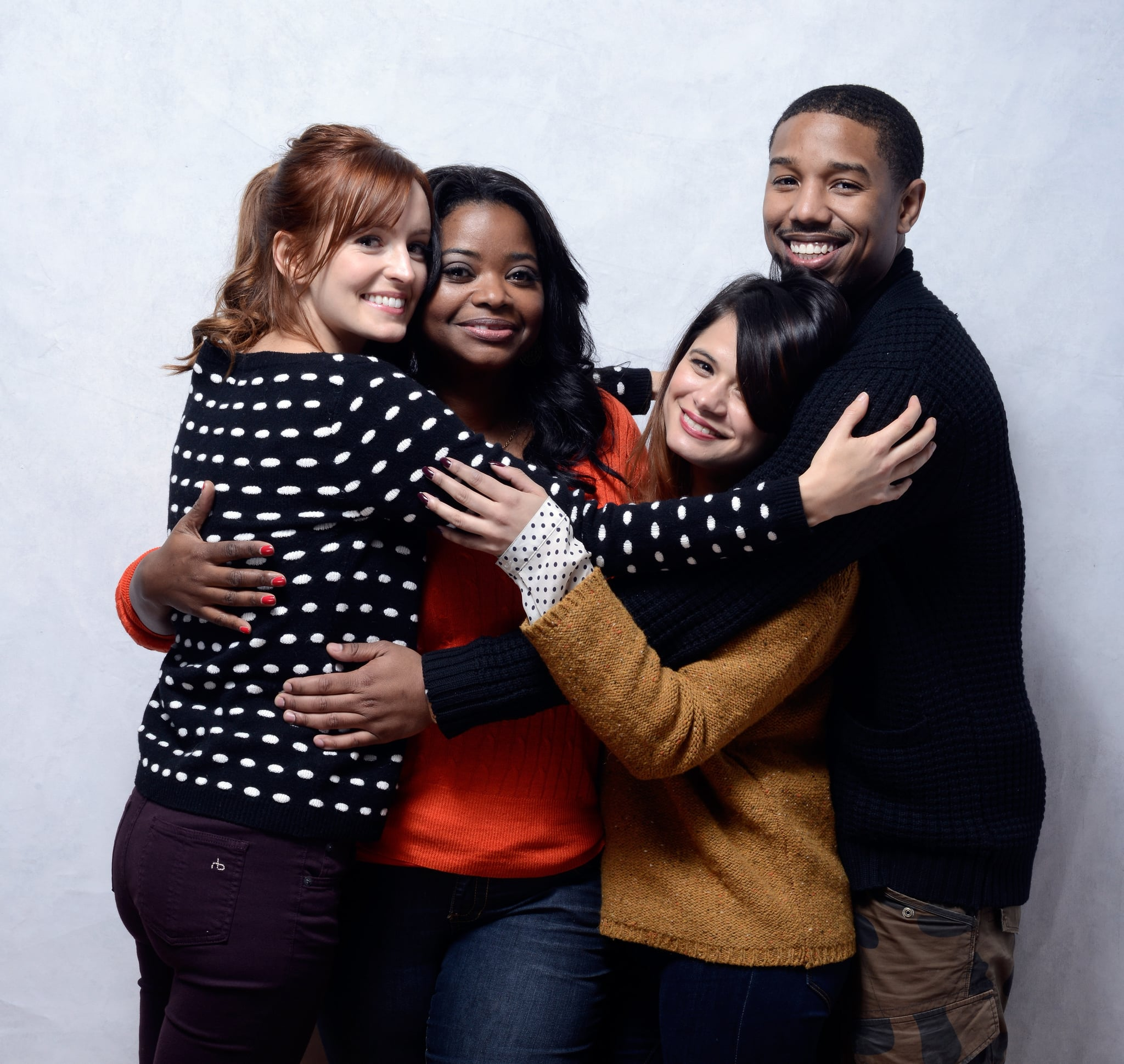 The stars of Fruitvale Station — Ahna O'Reilly, Octavia Spencer, Melonie Diaz, and Michael B. Jordan — took a sweet snap together while promoting the film in 2013.